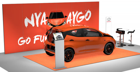 Monter för Toyotas bilmodell Aygo