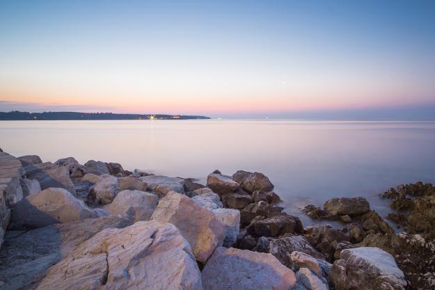 Kvällsbild ut över havet